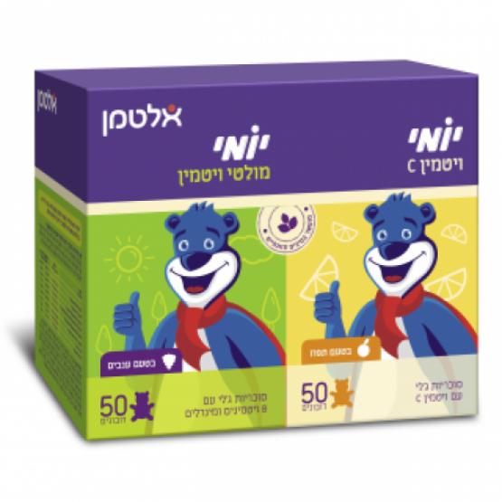 Мультивитамины+витамин С для детей Altman Yomi Multi Vitamin+Vitamin C 50+50 bears jelly