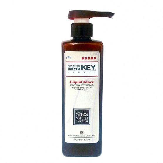 Saryna Key Curl Control Mix Liquid Glaze Extra Strong Микс ши 20% скульптерирующего геля 80% крема для кудрявых, непослушных, лишенных блеска и увлажнения волос